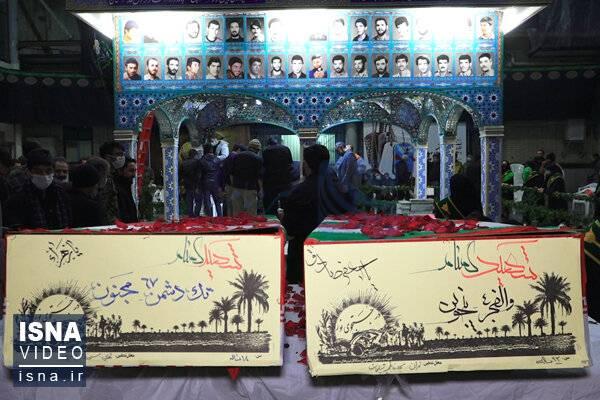 ویدئو / تشییع دو شهید گمنام در منطقه نظامآباد