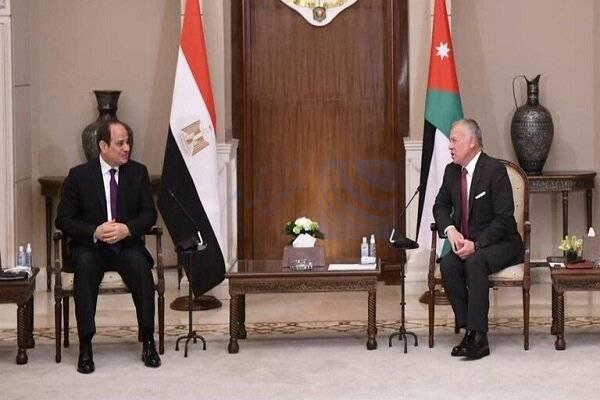 🔺 رئیس جمهور مصر و شاه اردن دیدار کردند