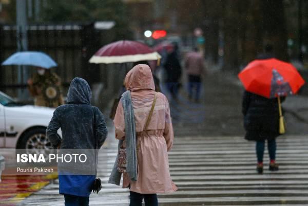 🔺 بارش باران در شمال کشور/اهواز گرمترین و اردبیل خنکترین مراکز استانها