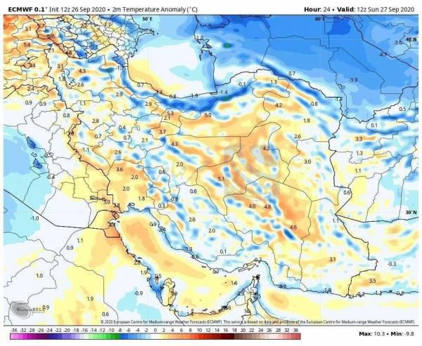 کاهش دما تا ۱۰ درجه در اغلب شهرها / تهران از هفتم مهر سرد میشود
